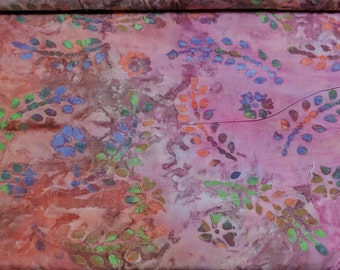 Pink Batik Cotton Fabric
