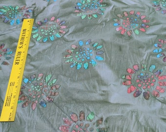 Green Batik Cotton Fabric