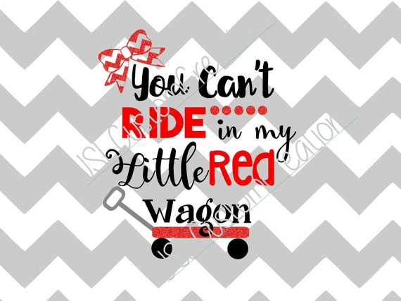 Little Red Wagon SVG Country Music Southern Girls EPS