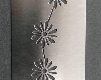 Flower Daisy Chain Border Stainless Steel Metal Stencil 2.5cm x 12cm