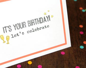 Handmade Happy Birthday Cards - Card for Her - Mom Birthday Card - Card for Girlfriend - Birthday Sister Card - Wife Birthday Card