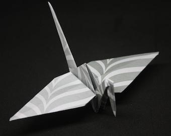 20 Origami Crane Wedding Favors Silver