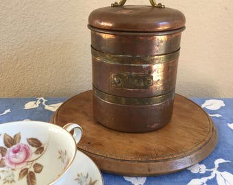 Vintage Copper and Brass Tea Canister