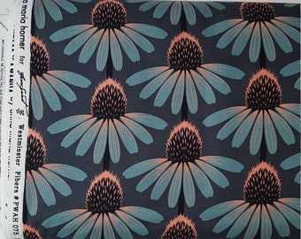 Echinacea in Dim Cornflower Floral Fabric Yardage by Anna Marie Horner Floral Retrospective