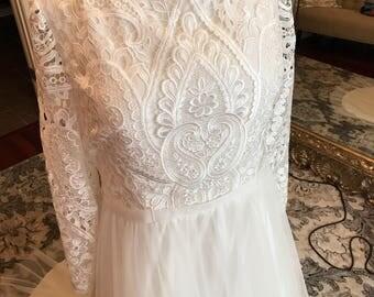 Custom unique wedding dress listing, remaining deposit for Catherine