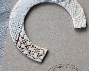Porcelain Statement Brooches