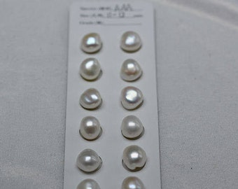 11-13mm stone shape aroque pearls for eaaring making
