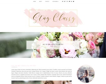 50% OFF NEW! Stay Classy Premade Blogger Template - Responsive Blogger Template - Feminine Blogger Template - Minimalist Template