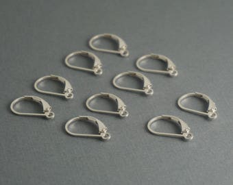 sterling silver .925 lever back earring wires - 5 pairs (10 pieces)
