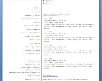 resume template resume instant download template cv