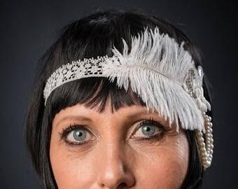 year headband 20's charleston