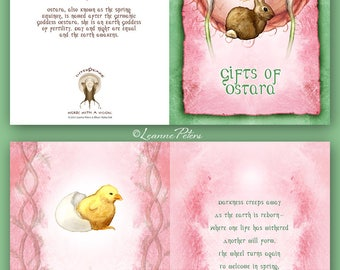 Ostara - High Holiday - Sabbat Card