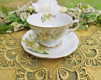 July Lily Tea Cup in Fine China