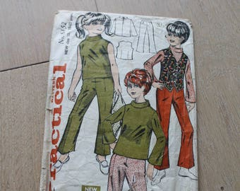 Practical Pattern 1960s Girls' Pattern/ 6152/ Blouse, Trousers and Waistcoat Pattern/ Craft Supplies & Tools/ Sewing/ Haberdashery (1727B)