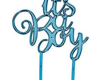 It's A Boy Blue Baby Shower Cake Topper / Baby Shower / Oh Baby/ Cake smash / Gender Reveal /First Birthday
