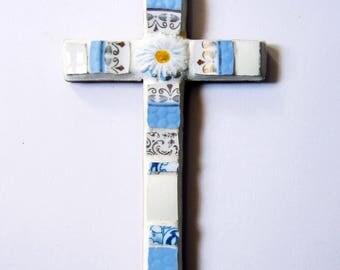 Cross communion mosaic dishes