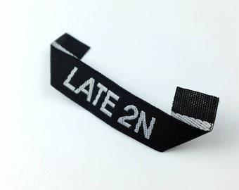 mitre fold woven label custom, custom mitre fold woven label