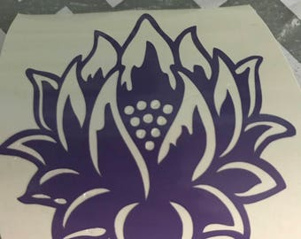 Small Lotus Decal