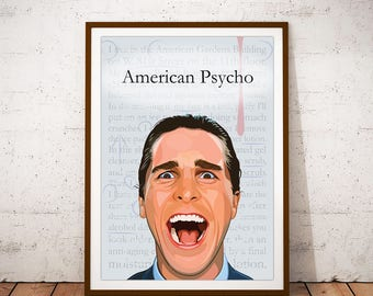 American Psycho Movie Poster Illustration
