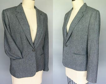 staple / 1970s gray wool pendleton blazer / medium