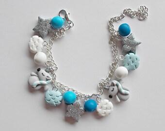 Unicorn Bracelet - Unicorn Charm Bracelet - Unicorn Lover Girls Bracelet - Unicorn Jewelry - Unicorn Gift - Easter Basket