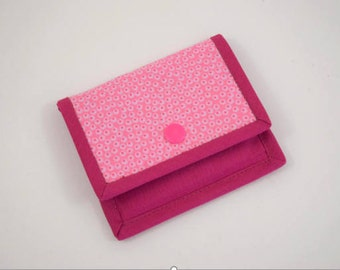 Gift Card Wallet, Mini Wallet, Gift Card Holder, Pink Fabric Gift Card Wallet, Card Wallet, Fabric Mini Wallet, Fabric Gift Card Wallet