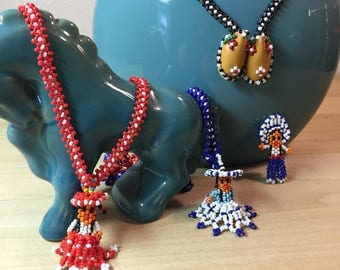 Native American Style Seed Bead Necklaces