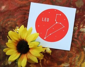 Zodiac Sign Vinyl Decal | Leo