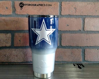 30oz Ozark or Yeti Cup Two Toned with Dallas Cowboys Vinyl