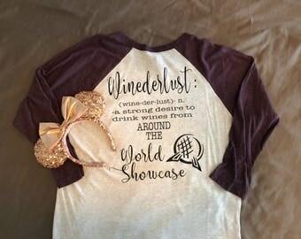 Winederlust Baseball Style Shirt
