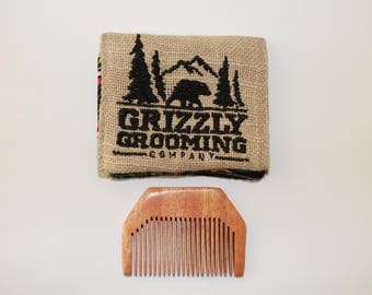 valentines day gift for him, beard comb, wooden comb, neem comb, pocket Comb, Gifts under 10, New years gifts, Gifts for him, Wood Comb