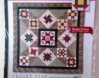New Quilt Block of the Month Kit with Pre-cut Ready-To-Sew Fabric Shapes, Legacy Star, Month 1, The Love Knot Block, Jo-Ann Fabric, 2003