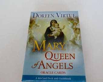 Oracle Cards New in Box/Easter Gift/Mary Queen of Angels Oracle Cards/44 Card Set and Guidebook/Mother Mary's Loving Wisdom/Angel Therapy