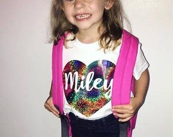 Girls T-shirt, Personalised T-shirt, Girls Clothing, Personalised Clothing, Girls Top, Kids Tops, Kids Clothing, T-shirts, Personalised Tops
