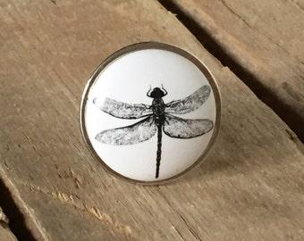 Dragonfly Drawer Knob, Farmhouse-Style Drawer Pull, Decorative Ceramic Knob, Farmhouse 11 DFLY