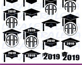 60 % OFF, Graduation SVG, Graduation Cap SVG, Graduation Caps monogram frame, Graduation Cut Files, svg, dxf, ai, eps, png, Graduation Hat