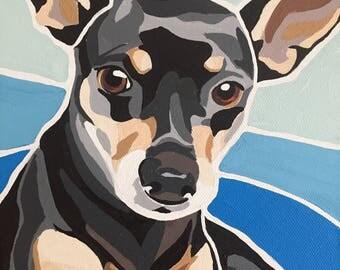 Custom Pet Portrait Painting - Free shipping