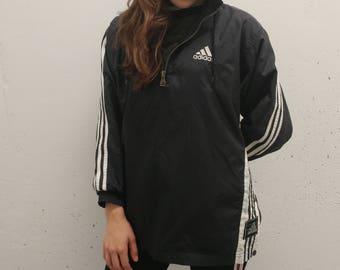 1990s Adidas Windbreaker Vintage Adidas Jacket 90's Adidas Jacket