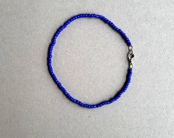 Ankle Bracelet, Anklet Royal Blue, Anklet, Beach Anklet, Beaded Anklet, Beach Surf, Handmade Jewelry, Blue, Ankle Chain, African