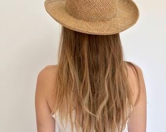 Woven Beach Hat | Simple Straw Beach Hat | Open Weave Farmer Hat | Sun Hat | Summer Straw Hat | Jute Hat