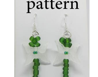 Dragonfly pattern, tutorial dragonfly, make your own, unique earring, diy earring project, pattern tutorial, pdf tutorial guide