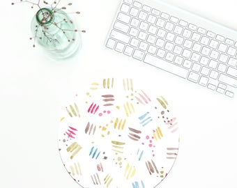 Pattern Mouse Pad, Modern Mousepad, Office Mousepad, Coworker gift, Geometric mousepad, Desk Accessories, Pink mousepad, Christmas gift