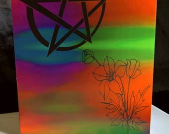 Abstract Pentagram Greeting Card