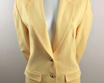 Vintage Pendleton 100% Virgin Wool Yellow Blazer/Size 10
