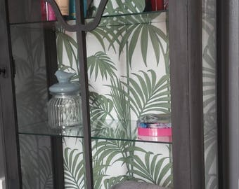 Vintage display cabinet perfect for bathroom storage