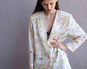 Vintage 70's Floral Blazer
