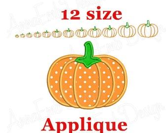 Pumpkin Applique embroidery design. Pumpkin mini  design. Halloween design. Pumpkin Design. Pumpkin embroidery. Machine embroidery.