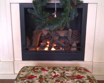 Christmas Footstool.Christmas Decoration.Christmas fourniture.