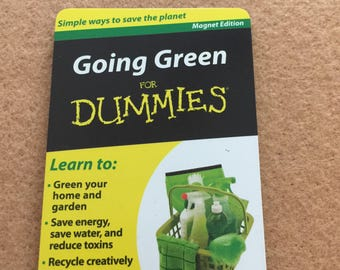 Going Green For Dummies Reference Guide Free Shipping