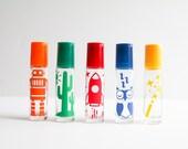 NEW! Set of 5 Boy's Roller Bottle Labels, Essential Oil Label, Roller Bottle Label, Aromatherapy Labels, Kid's Labels, Essential Oil Kid's,